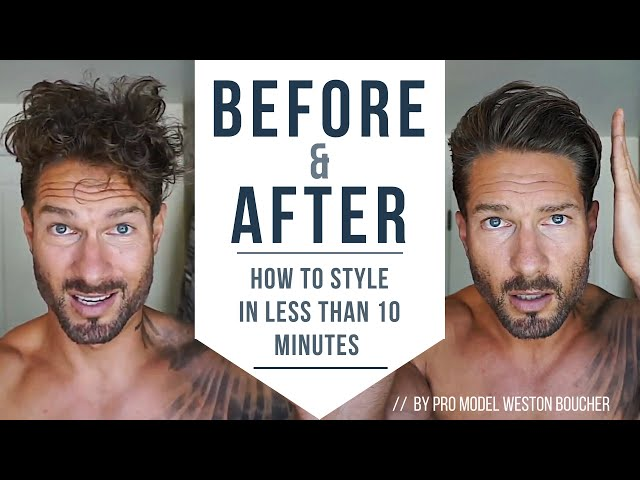 How To Style Menвs Hair Like A Pro In Less Than 10 Minutes  Hairstyle Tips by LA Model