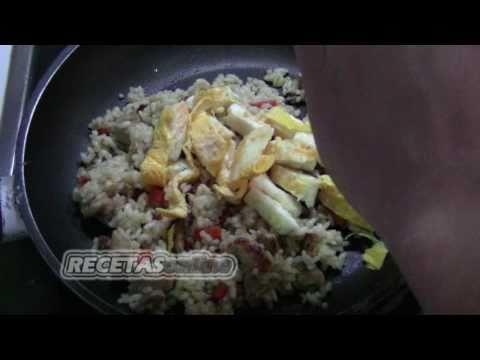 Arroz con lomo y tortilla china - Recetas de cocina RECETASonline