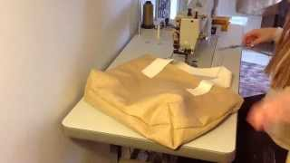 How To Make a Simple Canvas Tote Bag with Lining. Basic Sewing Tutorial by Big Duck Canvas