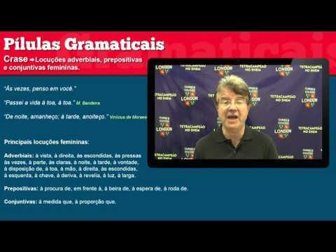 Pílulas Gramaticais - Aula 50 - Crase: Locuções adverbiais, prepositivas e conjuntivas femininas