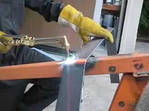 Matt Bending Steel Flat Bar With The Torch Youtube