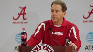 Nick Saban talks Clemson practice, Sarkisian transition, and more