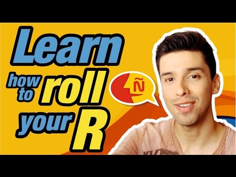 Learn Spanish -  How to Roll your r's tutorial - RR Trill pronunciation