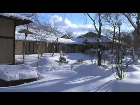 磐梯熱海温泉 万葉の宿  八景園〜雪景色の庭園〜