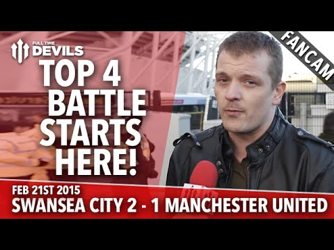 Top Four Battle Starts Here   Swansea City 2 Manchester United 1   FANCAM