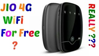 Get JIO 4G wiFi For Free With Unlimited DATA | JIO 4G WIFI For Free | IS IT REALLY???