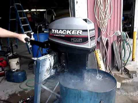 Boat Repair: Winterizing Motor, air silencer, fuel stabilizer
