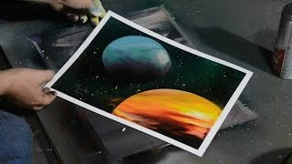 How to Paint Planets with Spray Paint - Quick and Easy