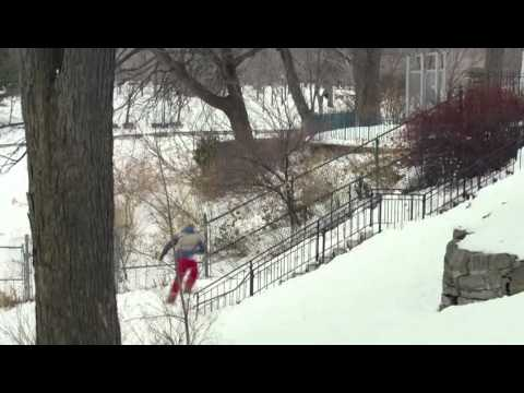 Веселые сноубордисты