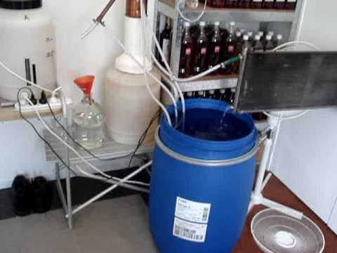 My home distillation setup. easy homebrew alcohol.