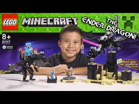 LEGO MINECRAFT - Set 21117 THE ENDER DRAGON - Unboxing. Review. Time-Lapse Build
