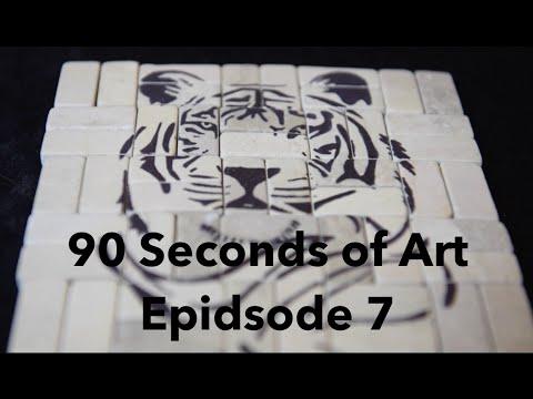 Tiger Hot Pad - 90 Seconds of Art: E7