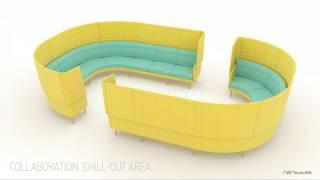 Modular lounge seating ARCIPELAGO by Baldanzi & Novelli Designers