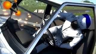 BeamNG.Drive Mod : Ragdoll Driver The Stig (Crash test)