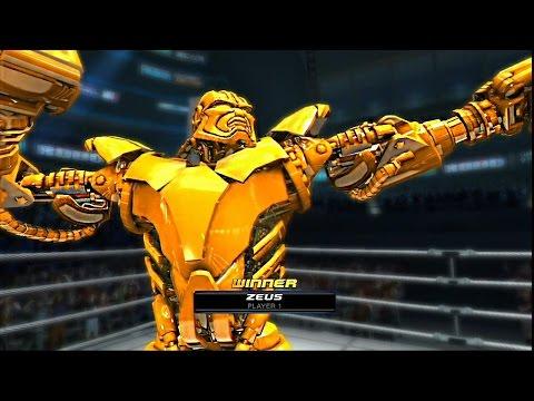 Real Steel-New TWIN CITIES vs Golden ZEUS(ЖИВАЯ СТАЛЬ)XBOX360/PS3