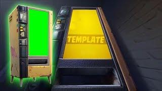 Fortnite Vending Machine [GREEN SCREEN] & [TEMPLATE]