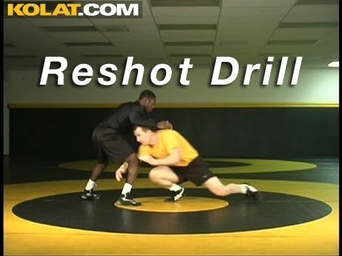 Reshot Takedown Drill KOLAT.COM Wrestling Techniques Moves Instruction Image 1