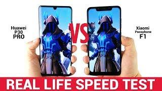 Huawei P30 Pro vs Xiaomi Pocophone F1 - Real Life Speed Test! [1000 vs 300 USD]