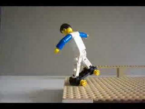 Stop-motion lego-skating