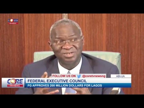 FG APPROVES 200 MILLION DOLLARS FOR LAGOS... watch & share...!
