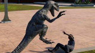 Jurassic World Evolution - Blue & Indoraptor Breakout & Fight! (1080p 60FPS)