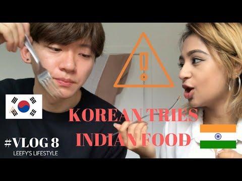 KOREAN TRIES INDIAN FOOD | #VLOG 8