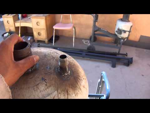 Home Made High pressure pot blaster/Sand Blaster converted from a propane tank part 2 of 4