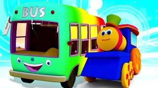Wheel On The Bus   Best Sing - Along Songs & Nursery Rhymes   Bob The Train Cartoons For Kids
