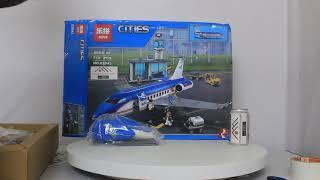 Mở hộp Lepin 02043 Lego City 60104 Airport Passenger Terminal giá sốc rẻ nhất