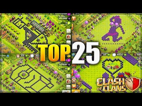 Clash Of Clans - TOP 25 SEXUAL/Funny/Troll CoC Comedy Base Design Compilation