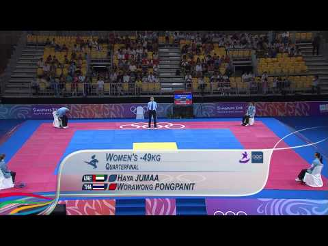 Women's Taekwondo 49Kg Quarterfinals - Singapore 2010 Youth Games