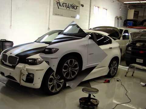Bmw Car Wrap Matte White Bmw X6 Paint Less Color