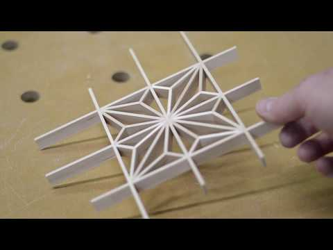 Kumiko how to: Japanese woodworking asa no ha