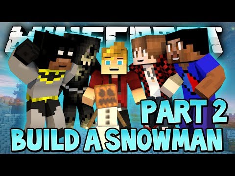CAN WE BUILD A SNOWMAN??? (Minecraft Battledome) Part 2 w/ Lachlan & Friends