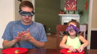 Daddy/Daughter Oreo Cookie Challenge!