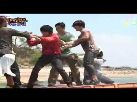 Fun Water Push Game with Korean Stars PART 1 ( eng sub )