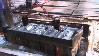 Proceso del hielo en bloque