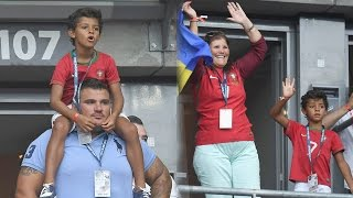 Cristiano Ronaldo jr watches Euro 2016 Final