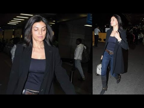 CAUGHT AT THE AIRPORT: Sushmita Sen Sexy In Black
