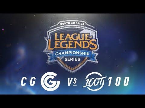 CG vs. 100 - Week 3 Day 1 | NA LCS Spring Split | Clutch Gaming vs. 100 Thieves (2018)