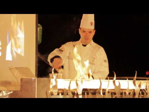 Flaming food from chefs from the Art Institute of Pittsburgh