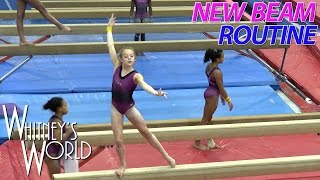 New Balance Beam Routine | Whitney Bjerken