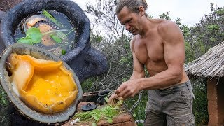 Primitive Harvest and Cooking Soup - Mollusks and Wild Plants