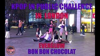[4K KPOP IN PUBLIC CHALLENGE] EVERGLOW (에버글로우) - Bon Bon Chocolat (봉봉쇼콜라) DANCE COVER IN LONDON 커버댄스