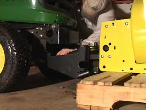 Part 3: Deere X530 and 47 inch snow blower - Attaching