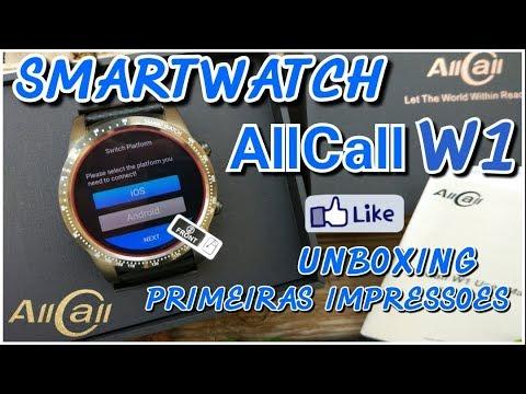 Este SMARTWATCH tem 2GB RAM e 16GB ROM ! Allcall W1 Unboxing e primeiras impressoes