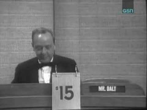 The final What's My Line? 1967 - John Daly as Mystery Guest
