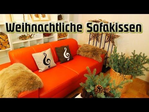 Sofakissenschau Notenschlüssel  /    DIY/Kissenhüllen festlich dekorieren