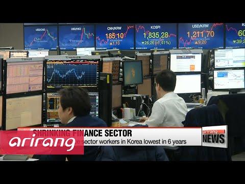 Korea's finance sector workforce lowest in 6 years