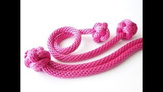 How to Make a Rope Dog Toys-Single Strand/2 Strand Diamond Knot Tutorial-DIY dog toy